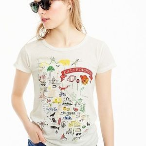 J.Crew California tee shirt